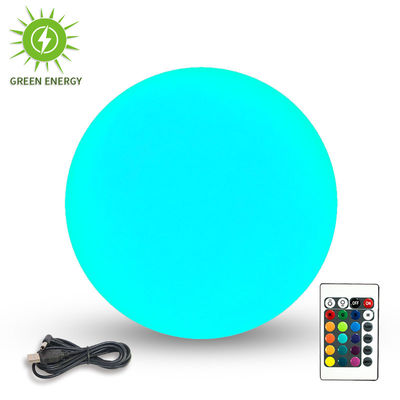China 25cm Solar Power LED Ball Lights / Floating LED Lights For Home Decoration supplier