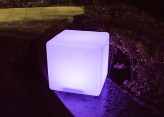 China Energy Saving LED Cube Light Decorations Outdoor Light Up Cubes High Efficient supplier