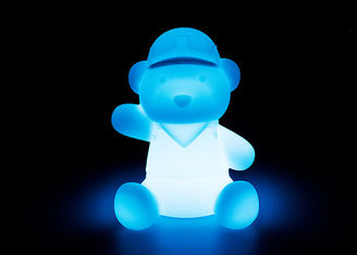 China Cute Bear Shape Solar LED Night Light Lightweight With Shock Resistant supplier