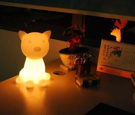 China Colorful Animal LED Night Light / Cartoon Cat Night Light Multi Function supplier