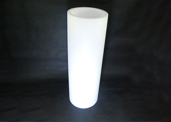 China Round Colorful LED Light Up Champagne Bucket White PE Plastic Shell Material supplier