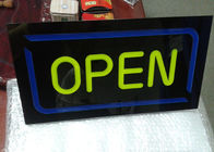 Restaurant Outdoor Neon Open Sign / LED Signs Board Shop Name Board Design