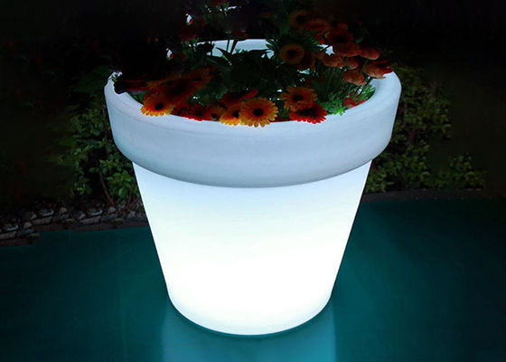 Beautiful Illuminated Flower Pots / Solar Powered Plant Pots 40*60*H65 Cm Size