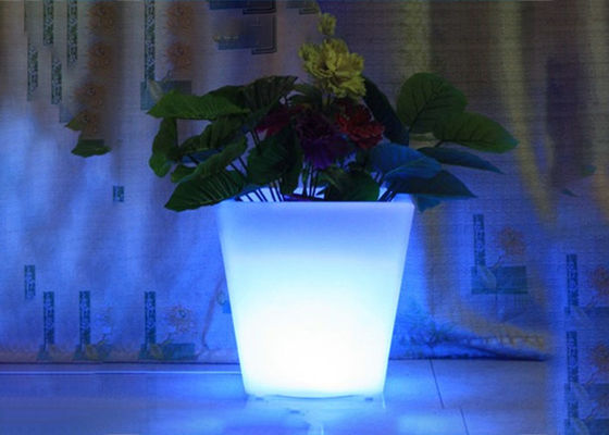 Decoration Illuminated LED Flower Pots Multi RGBW Color Changing Remote Control