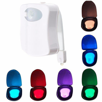 8 Colors Rotated LED Toilet Light , Motion Activated Toilet Light Sensor Switch