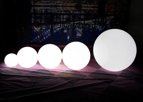 Small Shiny Outdoor LED Ball / Large Garden Ball Lights Wireless And Shockproof
