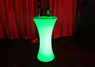 Multi Color LED Cocktail Table / Lighted Cocktail Tables For Coffee Party Hotel Bar