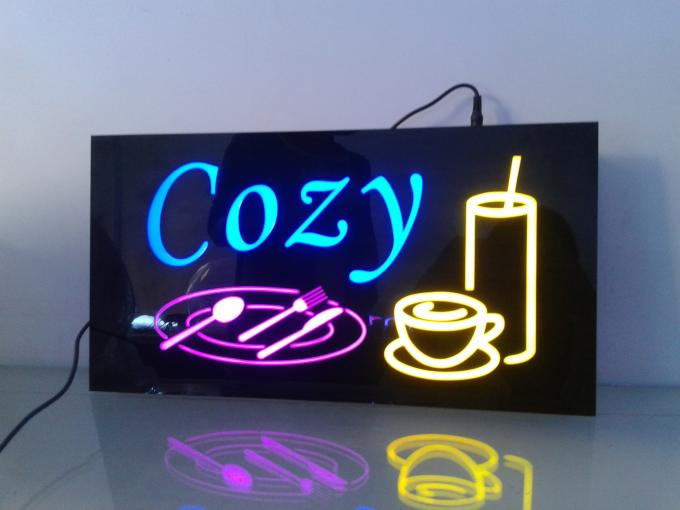 Power Saving LED Open Signs Environmentally Friendly Acrylic And Epoxy Resin Material