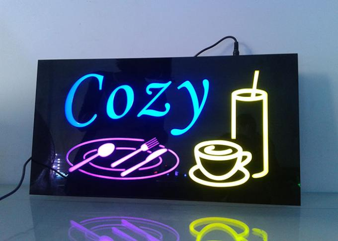 CE / Rohs Certificated LED Resin Signs Customized Sizes And Words Easy Install