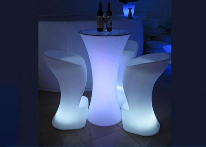 Rechargeable LED Cocktail Table , Light Up Cocktail Tables App Control