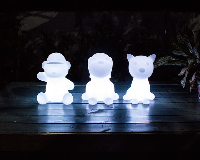 Colorful Animal LED Night Light / Cartoon Cat Night Light Multi Function