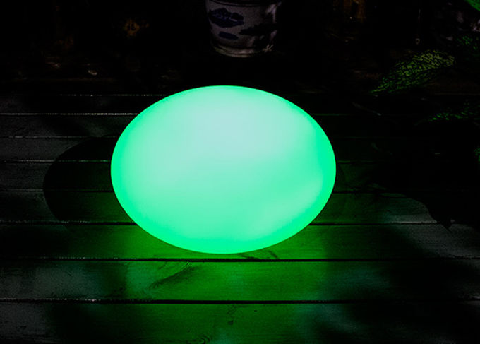 Solar Charging Floating LED Balls Plastic Shell With Remote Control Cordless