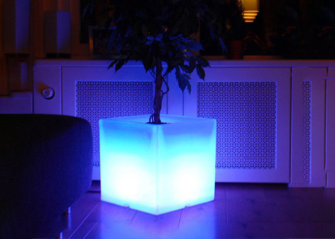 Garden Decoration Light Up Flower Pots Non Toxic Safe For Human Health